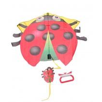 vlieger Lieveheersbeestje 70 x 68 cm rood/zwart
