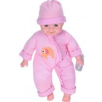 babypop met geluid 37 cm roze