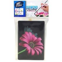 knutselset Diamond Painting bloem roze 15 x 10 cm