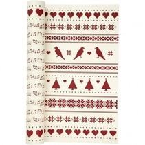 dubbelzijdig designpapier rood/crème 30,5 cm 5 vellen