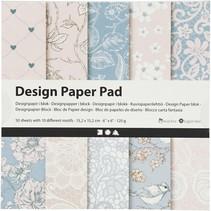 designpapier blok pastel 15,2 cm 50 vellen