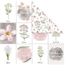 dubbelzijdig designpapier bloemen 30,5 cm 3 stuks