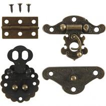 mini-beslag antiek goud 30-35 mm 10 sets