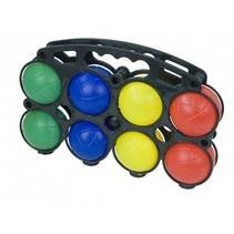 jeu de boules set kunststof 8 ballen