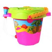 strandset Beach Toys 28 cm roze 9-delig