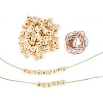Letter sieraden maken hout 7 mm 300 stuks