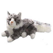 Knuffelpoes Liggende Maine Coon Kat 30 cm