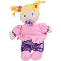 knuffel Baby Doll 28 cm roze/paars
