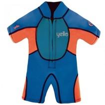 UV-werende wetsuit Puffer 2 mm jongens blauw 4 jaar