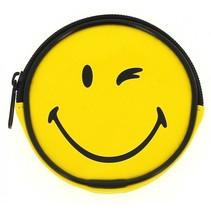 portemonnee Smiley geel 10 cm