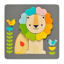 lagenpuzzel leeuw 20 cm 5-delig multicolor