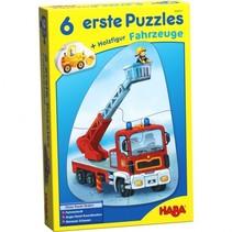6 eerste puzzels - voertuigen 18-delig