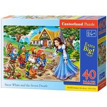 vloerpuzzel Snow White and the Dwarfs 40 stukjes Maxi