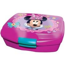 broodtrommel Minnie Mouse 16 cm roze