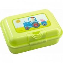 broodtrommel tractor 18 x 12 x 6 cm groen