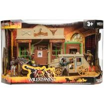 speelset Wild the best West saloon/cowboys/koets 7-delig