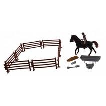 paardenspeelset zwart 15-delig
