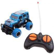 monstertruck met afstandsbediening 14 cm blauw