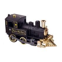 Metalen Klassieke Locomotief Met Geluid: 14 cm Zwart