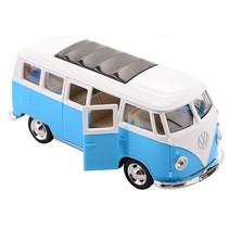 Volkswagen Bus T1 1:30 die-cast pull back blauw