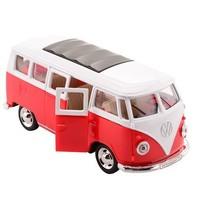 Volkswagen Bus T1 1:30 die-cast pull back rood