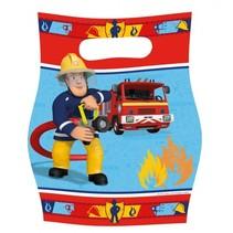 uitdeelzakjes Brandweerman Sam 8 stuks rood/blauw