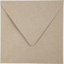 enveloppen 16 x 16 cm 50 stuks 120 g beige