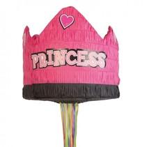 piñata kroon prinses 30 cm roze