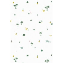 behang Tropical wit 1000 x 53 cm
