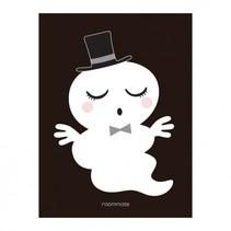 poster meneer spook 30 x 40 cm zwart/wit