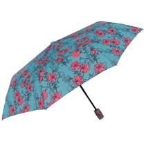 paraplu Bloem opvouwbaar 96/54 cm dames groen/roze