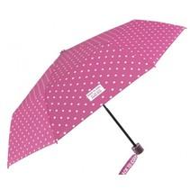 paraplu Cool Kids opvouwbaar 91/52 cm meisjes roze/wit