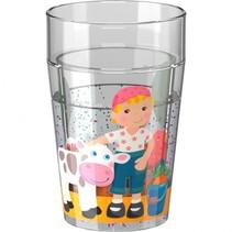 kleine vriendjes boerderij drinkbeker met glitter 150 ml