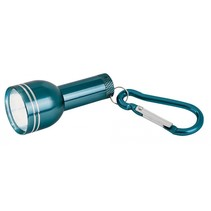 zaklamp met karabijnhaak 16 cm groen