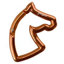 karabijnhaak paard 10 cm oranje