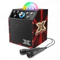 X factor karaokeset 2 microfoons bluetooth en led