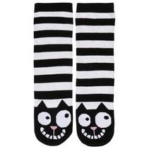 sokken anti-slip Ed, the cat zwart/wit