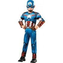 kostuum Marvel - Captain America jongens blauw