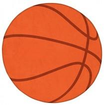 vloerkleed basketbal 75 cm oranje