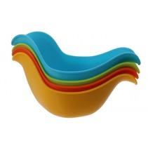 badspeelgoed stapelbakjes vogel 4-delig