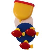 badspeelgoed Fish Wheel 21 cm geel