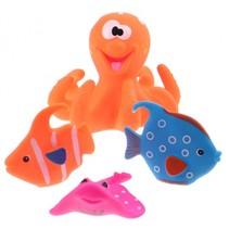 badspeelgoed Octopus oranje 4-delig