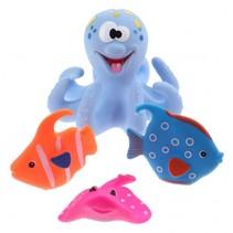 badspeelgoed Octopus blauw 4-delig