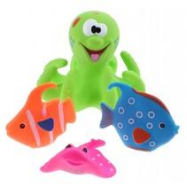 badspeelgoed Octopus groen 4-delig
