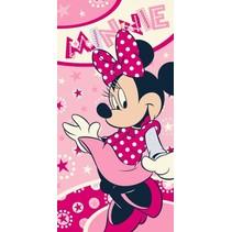 strandlaken Minnie Mouse 140 x 70 cm roze