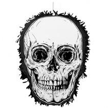 verkleedmasker Piñata Skull 35 x 25 cm zwart/wit