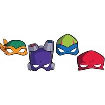Maskers Ninja Turtles 8 stuks