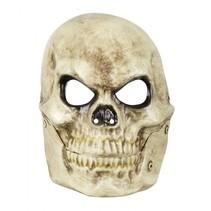 gezichtsmasker Skull met beweegbare kaak unisex wit