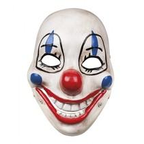 gezichtsmasker Scary Clown beweegbare kaak junior wit