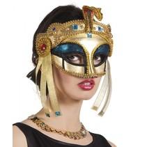 verkleedmasker Cleopatra dames goud one size